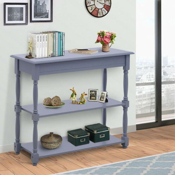 Homcom Console Table Wood Entryway Sofa Accent Hallway Living Room Furniture 712190159122