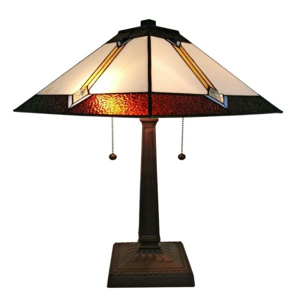 Tiffany Style Stained Glass Amora Lighting Am223tl14 Mission Table Lamp 21