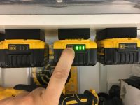 5x Black DeWALT XR BATTERY MOUNTS great for Tough System ...