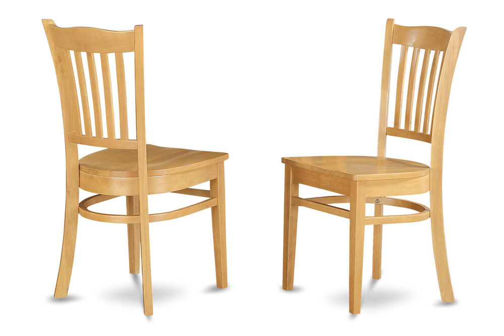 Set of 2 Groton dinette kitchen dining chairs with plain