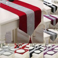 UK Thick Chenille Modern Velvet Diamond Table Runner And ...