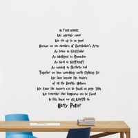 Harry Potter Quotes Wall Decal Movie Poster Vinyl Sticker ...