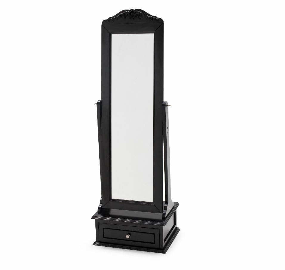 Cheval Mirror Mirrored Jewelry Armoire Full Length Floor