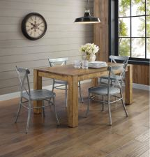 Metal Farmhouse Dining Table and Chairs