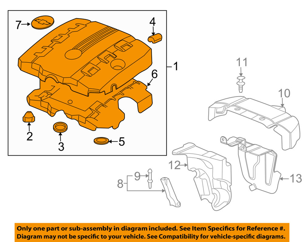 medium resolution of details about chevrolet gm oem 10 13 camaro 3 6l engine appearance cover engine cover 92219194