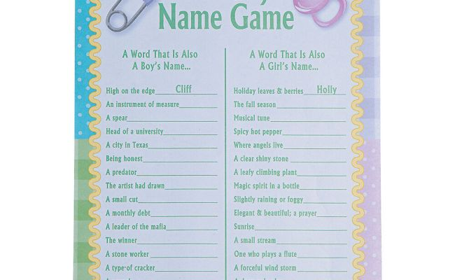 24 Baby Shower Party Game Activity Ice Breaker The Baby
