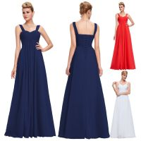 Womens Long Chiffon Maternity Evening Formal Party ...