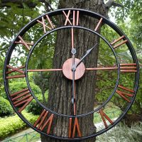 Large Outdoor Garden Wall Clock Big Roman Numerals Giant ...
