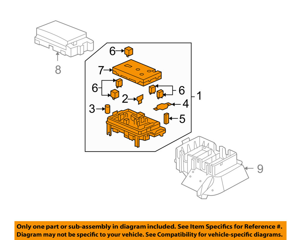 hight resolution of details about buick gm oem 2007 rainier electrical fuse relay box 25790682