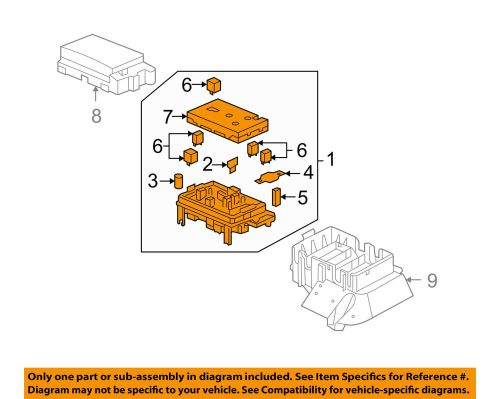 small resolution of details about buick gm oem 2007 rainier electrical fuse relay box 25790682