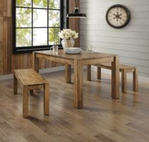 Dining Table Set for 4 Rustic Farmhouse Kitchen Table ...