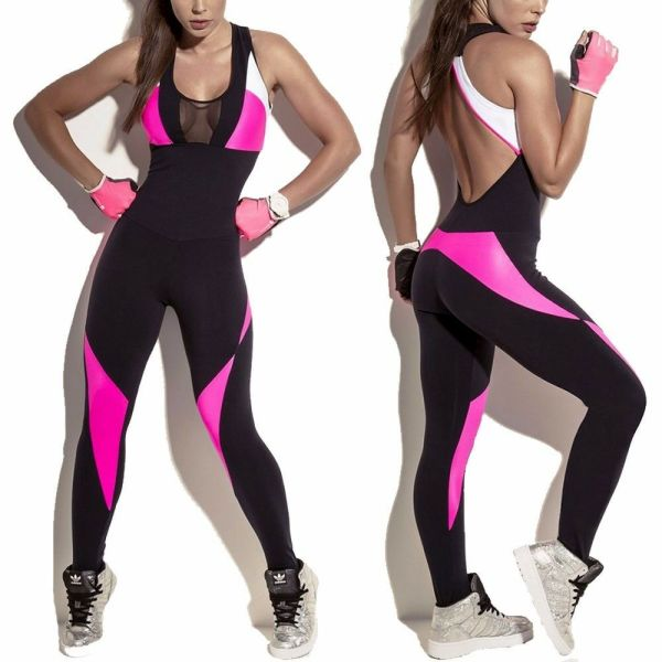 Women Sport Yoga Gym Rompers Running Suit Fitness