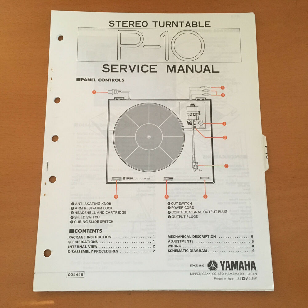 hight resolution of details about yamaha p 10 turntable service repair manual factory original rare