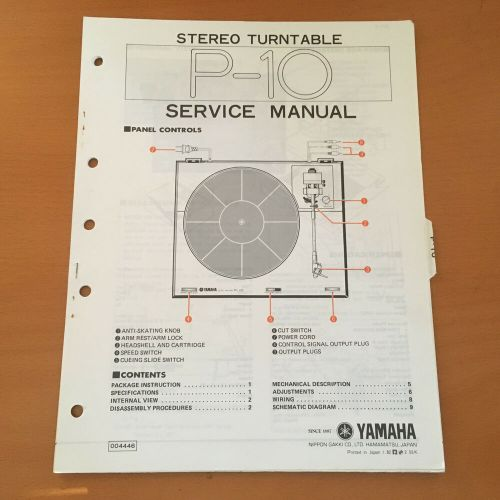 small resolution of details about yamaha p 10 turntable service repair manual factory original rare