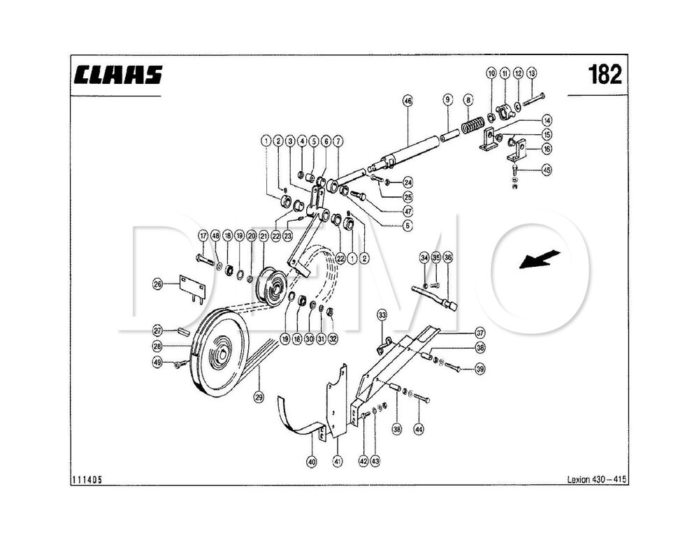 Claas Dominator 98 Spare Parts Catalogue, Original Manual