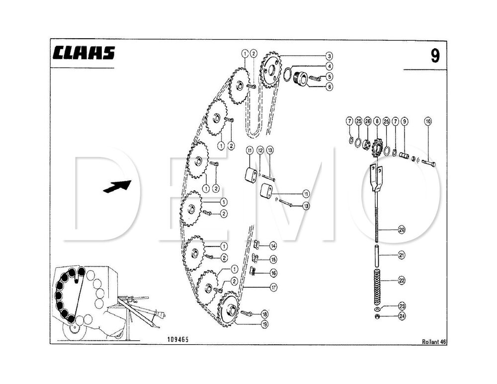 Claas Rollant 44 Spare Parts Catalogue, Original Manual