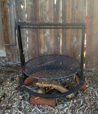 CAMPFIRE PIT BBQ GRILL WITH ADJUSTABLE GRATE ( SANTA MARIA ...