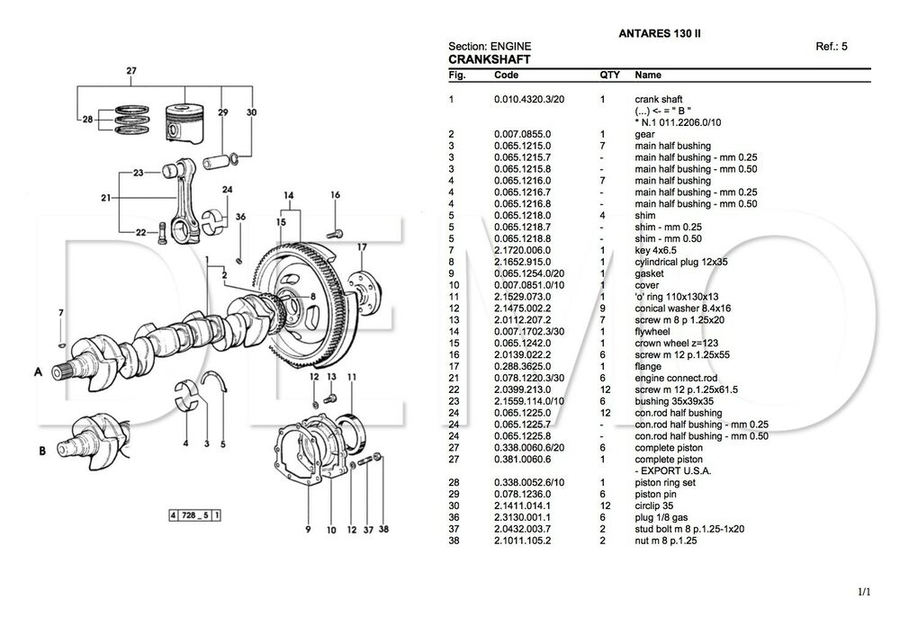 Same Titan Series Parts Catalogue, Original Manual, Parts
