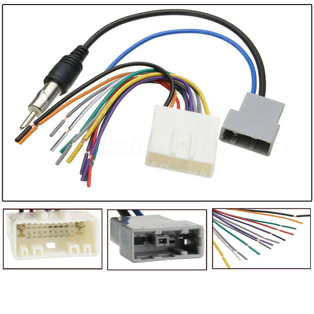 hight resolution of details about dvd car radio install stereo wire harness cable plugs antenna adapter for nissan