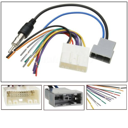 small resolution of details about dvd car radio install stereo wire harness cable plugs antenna adapter for nissan