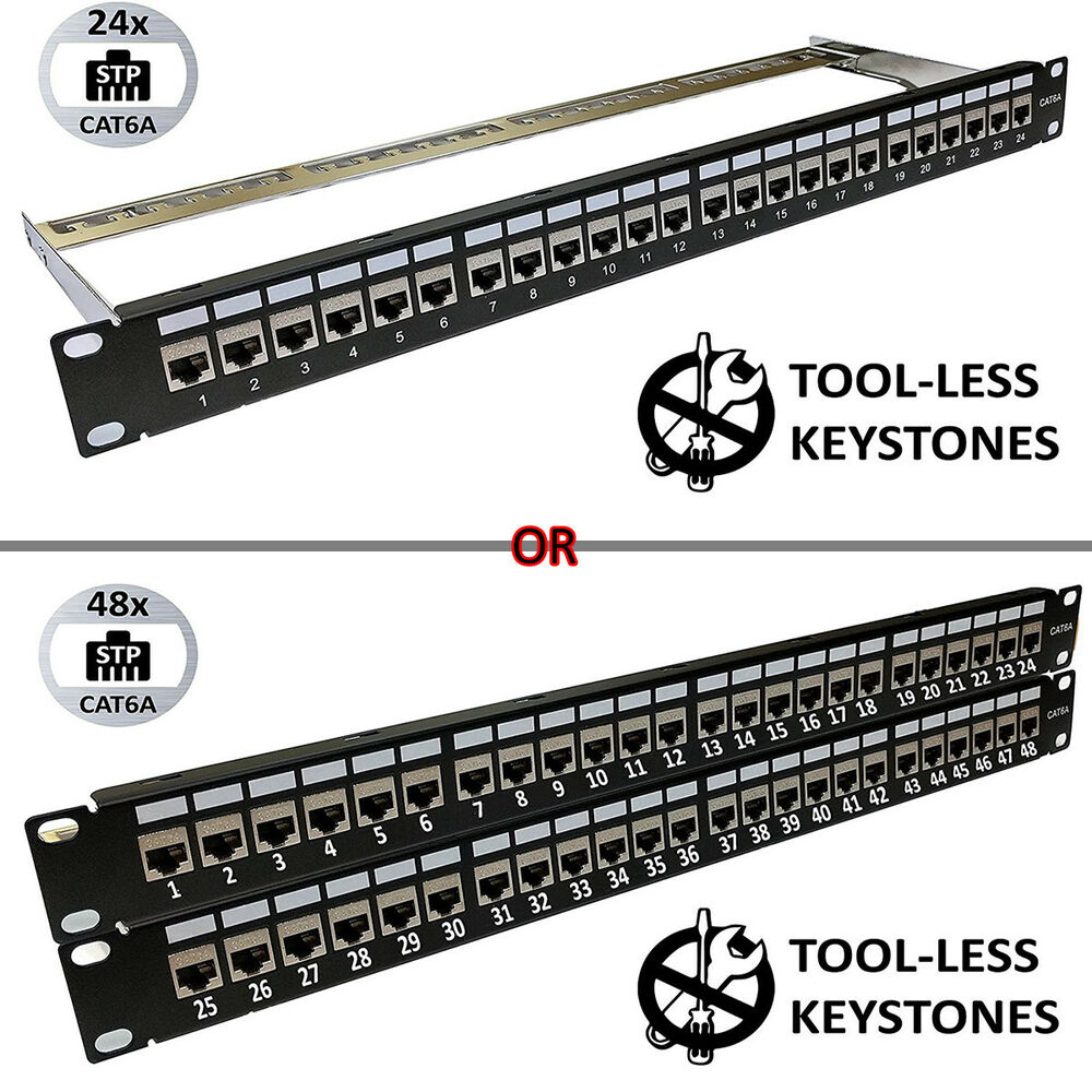 medium resolution of details about universal patch panels 19 format 24 48 port blank cat6 cat6a