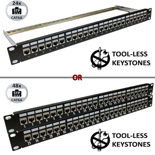 small resolution of details about universal patch panels 19 format 24 48 port blank cat6 cat6a