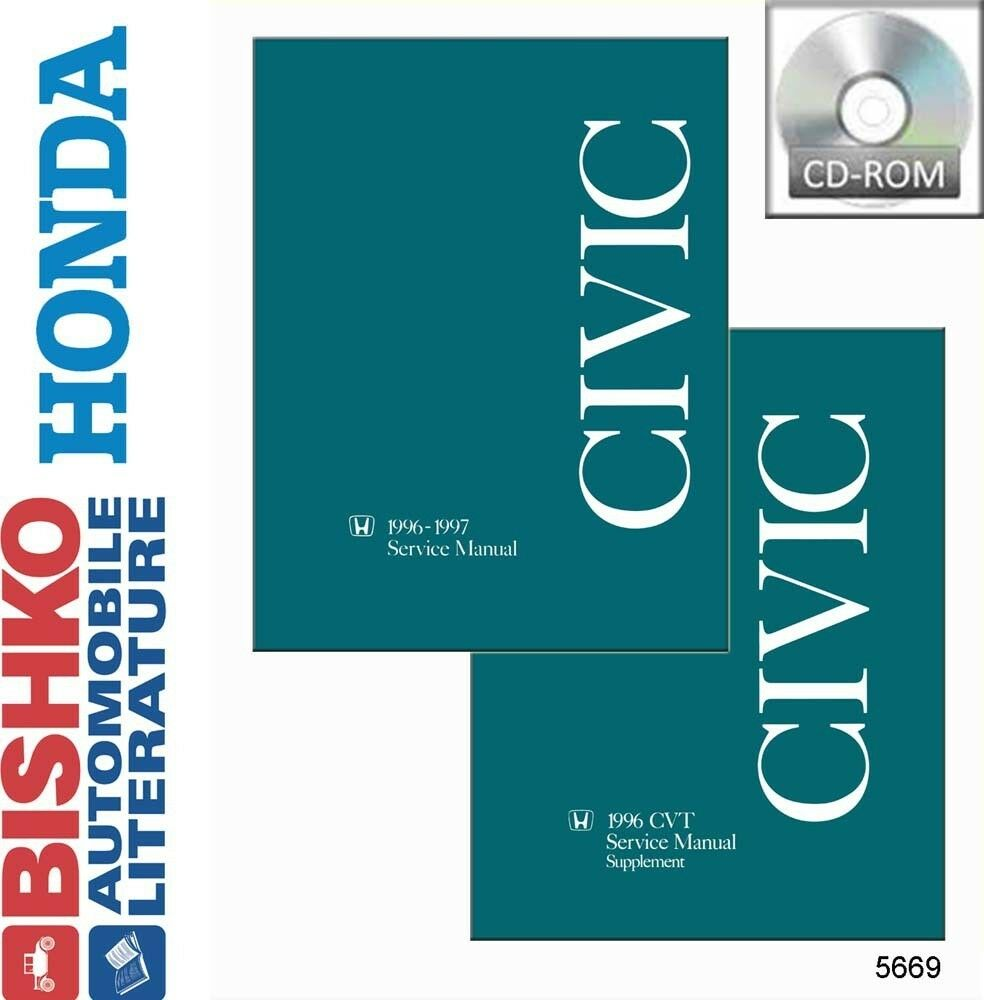 hight resolution of details about 1996 1997 honda civic shop service repair manual cd engine drivetrain electrical