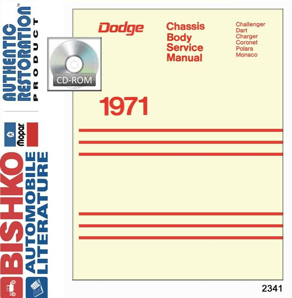 hight resolution of details about 1971 dodge charger monaco polara shop service repair manual cd