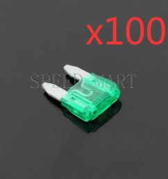 details about 100 pcs 30a car trucks boats suv auto hid light small mini blade fuse [ 1000 x 1000 Pixel ]