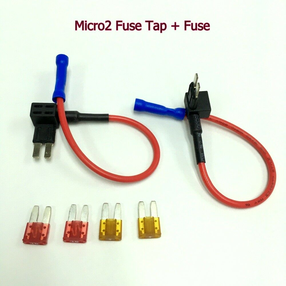 hight resolution of details about 2 x fh146 apt atr micro2 fuse tap add a circuit adapter 5a 10a fuse ukgtz