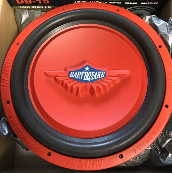 "School Earthquake 15"" Tremorx-15r Svc Subwoofer"