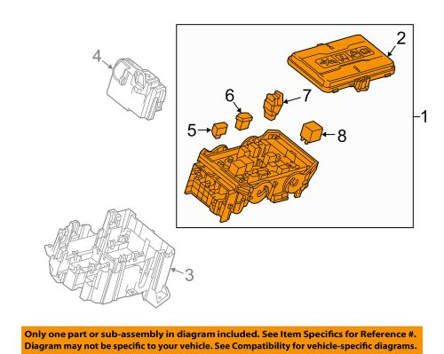 small resolution of details about chevrolet gm oem 16 17 malibu 2 0l l4 fuse box fuse relay box 84144636