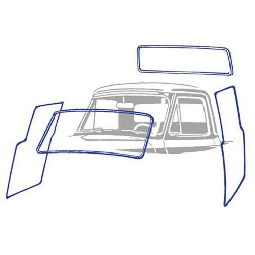 small resolution of details about 1953 55 ford pickup ford truck cab weatherstrip kit without chrome groove