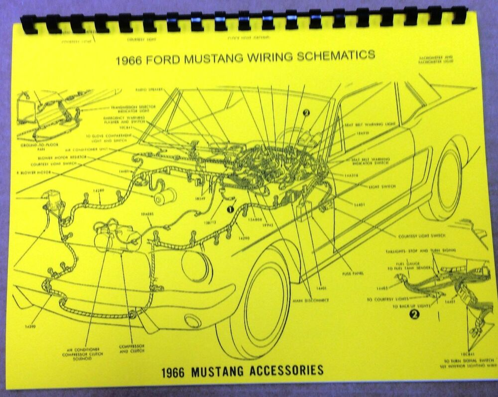 hight resolution of details about 1966 ford mustang wiring diagram manual measures 8 5 x 11