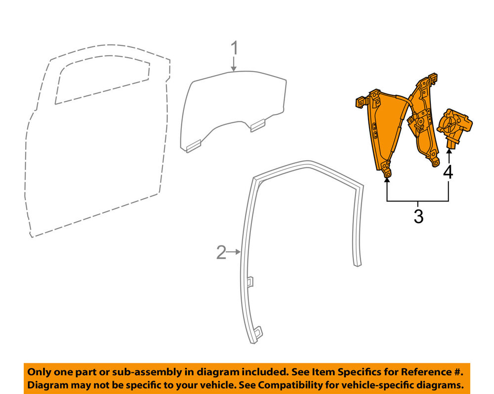 hight resolution of details about cadillac gm oem 10 15 srx front door window regulator 23257823