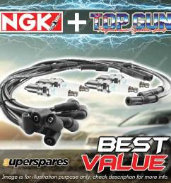 details about ngk ignition spark plug leads wires kit for toyota hilux rn85 90r 105r 130r [ 1000 x 1000 Pixel ]