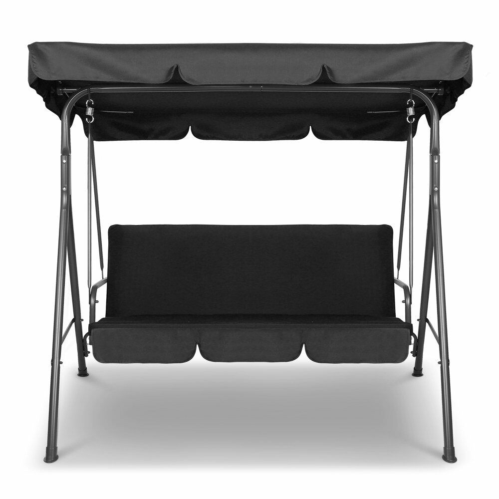 Swinging Chair Outdoor 3 Person Garden Swinging Chair Hammock Seat Bench Outdoors Swing Shade Chair New Ebay
