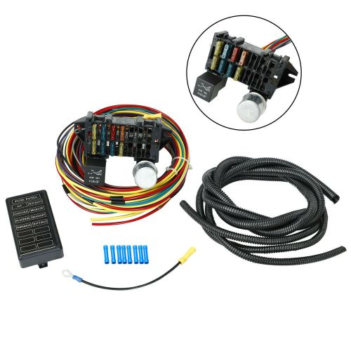 small resolution of details about 8 circuit universal wire harness muscle car hot rod street rod rat rod