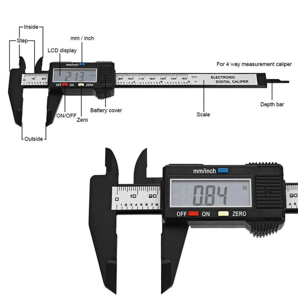 hight resolution of details about 150mm lcd digital vernier caliper electronics caliber carbon fiber micrometer