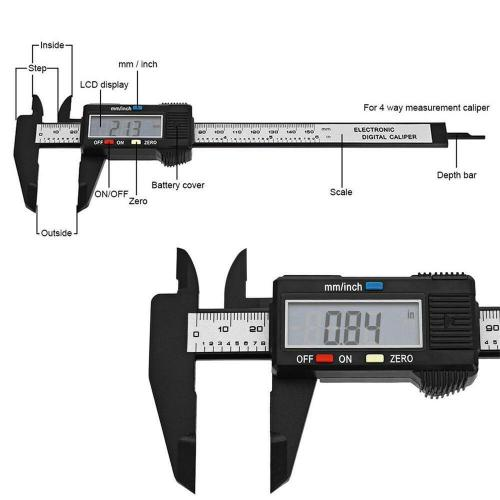 small resolution of details about 150mm lcd digital vernier caliper electronics caliber carbon fiber micrometer