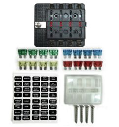 details about 8 way 12v blade fuse box distribution block with leds off road 4x4 rock crawler [ 1000 x 1000 Pixel ]