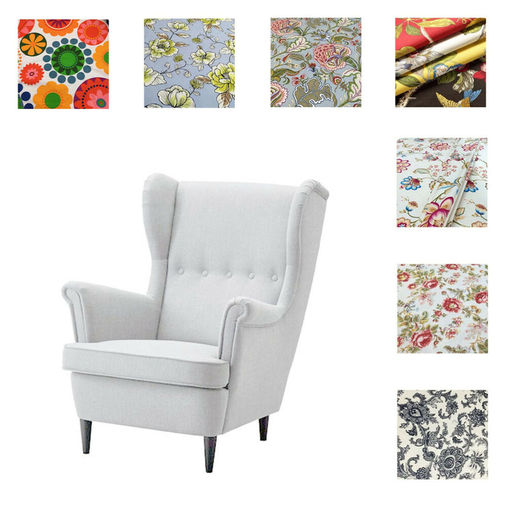 Chair Cover Patterns Custom Made Cover Fits Ikea Strandmon Chair Armchair Cover Patterned Fabric Ebay
