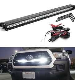 details about 150w 30 led light bar w behind grille brackets wiring for 16 up toyota tacoma [ 1000 x 1000 Pixel ]