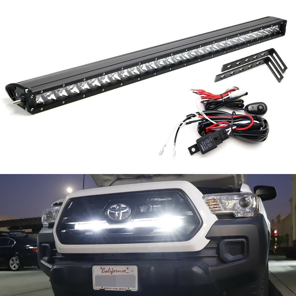 medium resolution of details about 150w 30 led light bar w behind grille brackets wiring for 16 up toyota tacoma