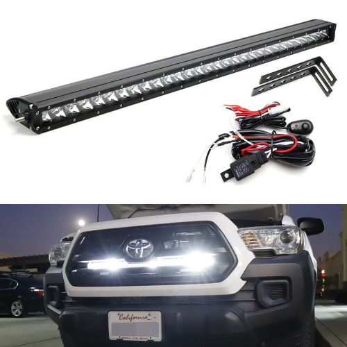 small resolution of details about 150w 30 led light bar w behind grille brackets wiring for 16 up toyota tacoma