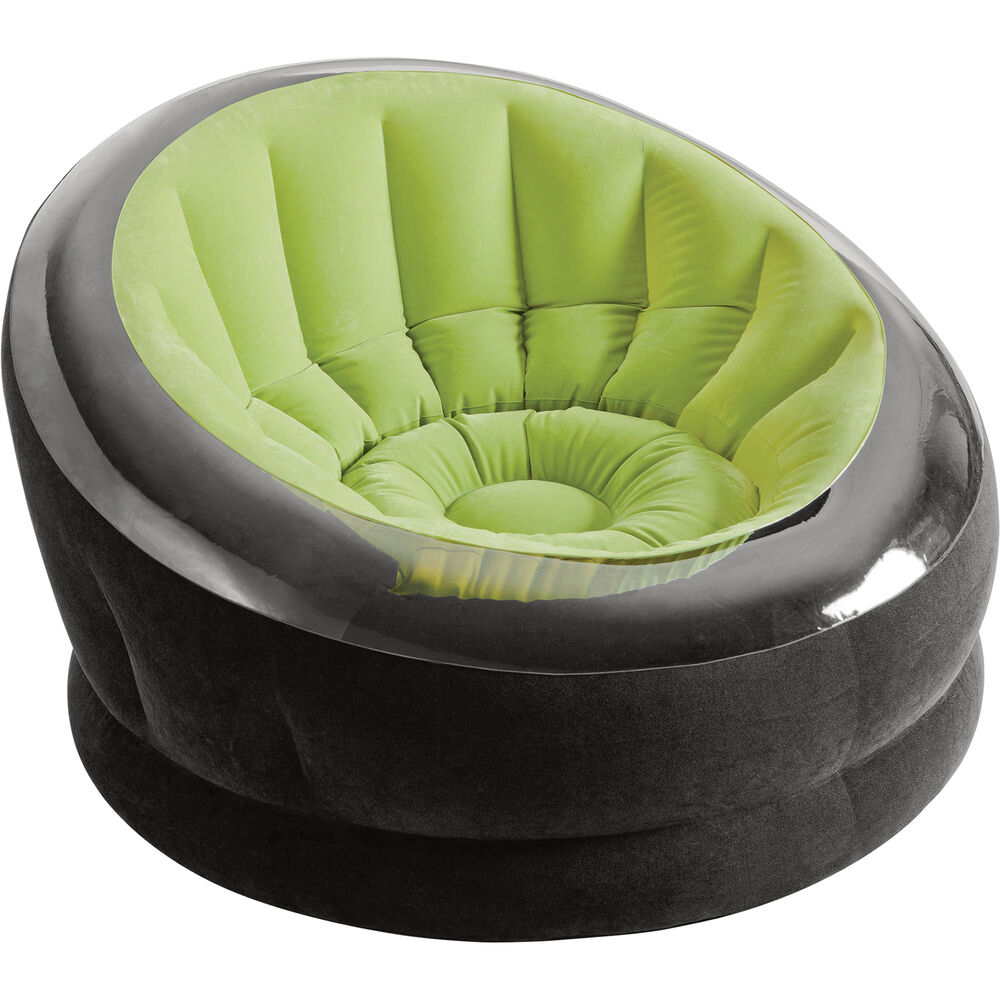 intex air chair big portable chairs inflatable blow up couch sofa lounger seat details about lime green