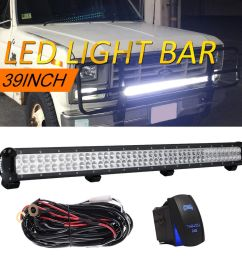 details about 39inch led light bar wiring off road 4x4 suv for jeep wrangler ford [ 1000 x 1000 Pixel ]