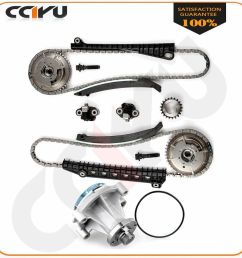 details about timing chain kit cam phaser fits 05 08 lincoln navigator 5 4l 3 valve water pump [ 1000 x 1000 Pixel ]