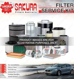 details about sakura oil air fuel filter service kit for volvo c70 s70 v70 2 3 2 4 petrol 5cyl [ 1000 x 1000 Pixel ]
