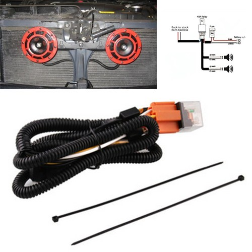 small resolution of universal 12v horn relay wiring harness kit for grille mount blast tone horns ebay